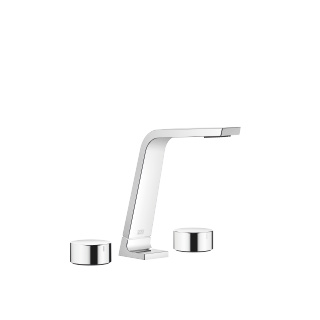 Three-hole basin mixer without pop-up waste - polished chrome - 13715705-00_1_20000740-00_1_20000741-00_1
