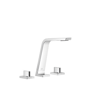 Three-hole lavatory mixer without drain - polished chrome - 13715705-00_1_20004705-00_1_20004706-00_1