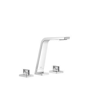 Three-hole basin mixer without pop-up waste - polished chrome - 13715705-00_1_20005705-00_1_20005706-00_1