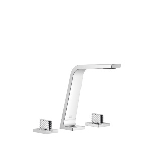 Three-hole basin mixer without pop-up waste - polished chrome - 13715705-00_1_20006705-00_1_20006706-00_1