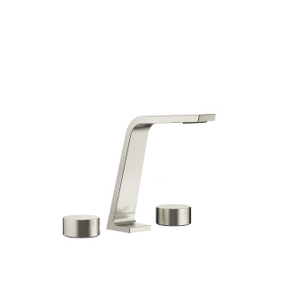 Three-hole basin mixer without pop-up waste - platinum matt - 13715705-06_1_20000740-06_1_20000741-06_1