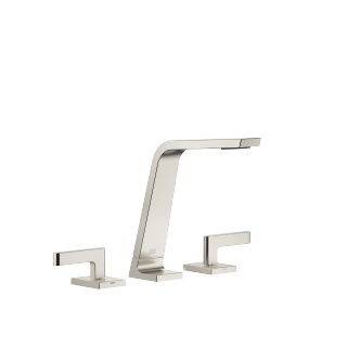 Three-hole lavatory mixer without drain - platinum matte - 13715705-06_1_20004715-06_1_20004716-06_1