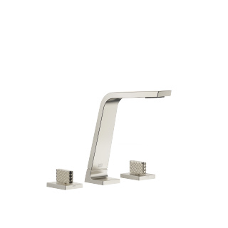 Three-hole basin mixer without pop-up waste - platinum matt - 13715705-06_1_20006705-06_1_20006706-06_1