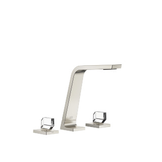 Three-hole basin mixer without pop-up waste - platinum matt - 13715705-06_1_20008705-06_1_20008706-06_1