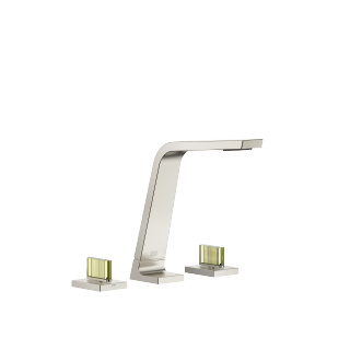 Three-hole basin mixer without pop-up waste - platinum matt - 13715705-06_1_20009705-06_1_20009706-06_1