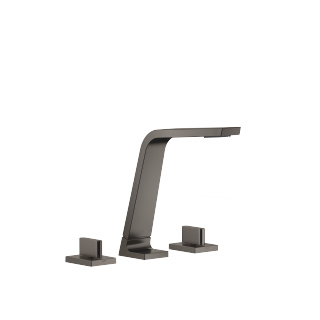 Three-hole basin mixer without pop-up waste - Dark Platinum matt - 13715705-99_1_20004705-99_1_20004706-99_1