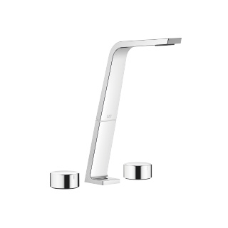 Three-hole basin mixer without pop-up waste - polished chrome - 13717705-00_1_20000740-00_1_20000741-00_1
