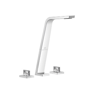 Three-hole lavatory mixer without drain - polished chrome - 13717705-00_1_20005705-00_1_20005706-00_1