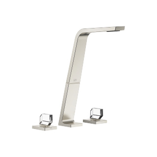 Three-hole basin mixer without pop-up waste - platinum matt - 13717705-06_1_20008705-06_1_20008706-06_1