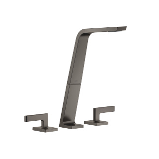 Three-hole basin mixer without pop-up waste - Dark Platinum matt - 13717705-99_1_20004715-99_1_20004716-99_1