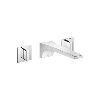 Wall-mounted three-hole lavatory mixer without drain - polished chrome - 13800705-00_1_36310706-00_1_36310707-00_1