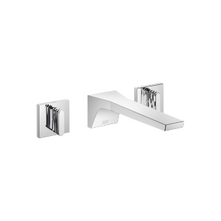 Wall-mounted three-hole lavatory mixer without drain - polished chrome - 13800705-00_1_36311706-00_1_36311707-00_1