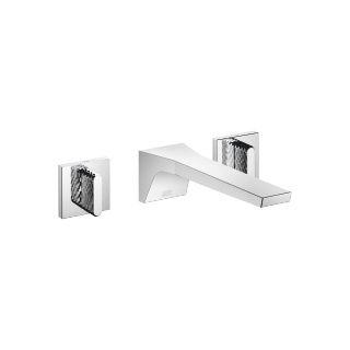 Wall-mounted three-hole lavatory mixer without drain - polished chrome - 13800705-00_1_36312706-00_1_36312707-00_1