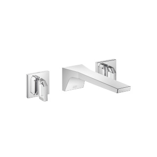 Wall-mounted three-hole lavatory mixer without drain - polished chrome - 13800705-00_1_36647706-00_1_36647707-00_1