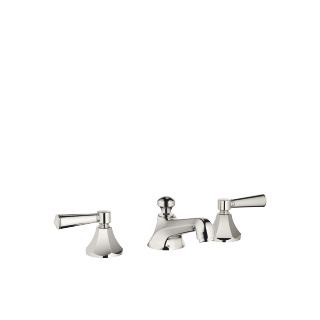 Three-hole basin mixer with pop-up waste - platinum - 20700370-08_1_11170370-08_2