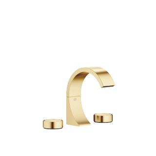 Three-hole basin mixer with pop-up waste - brushed Durabrass - 20710811-280010_1_11283811-28_1