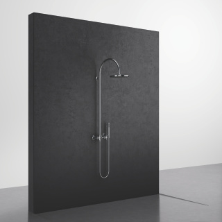 Showerpipe with shower mixer - polished chrome - 26632809-00_1_28019979-00_1