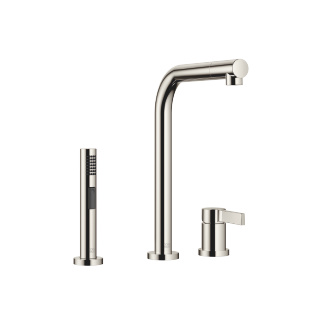 Two-hole mixer with individual rosettes with rinsing spray set - platinum - 32800790-08_1_27721970-08_1