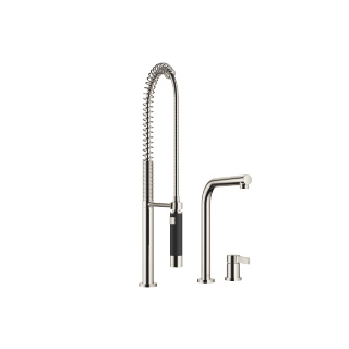 Two-hole mixer with individual rosettes with profi spray set - platinum - 32800790-08_1_27789970-08_1