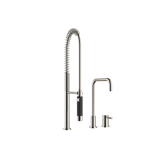 Two-hole mixer with individual rosettes with profi spray set - platinum - 32815625-080010_1_27789970-080010_1