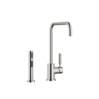 Single-lever mixer with rinsing spray set - platinum matt - 33820625-06_1_27721970-06_1