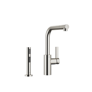 Single-lever mixer with side spray set - platinum matte - 33826790-060010_1_27721970-06_1