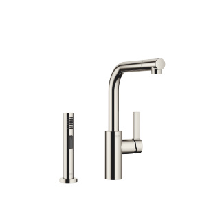 Single-lever mixer with side spray set - platinum - 33826790-080010_1_27721970-08_1