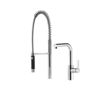 Single-lever mixer with profi spray set - polished chrome - 33826790-00_1_27789970-00_1