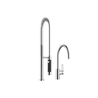 Single-lever mixer with Profi spray set - polished chrome - 33826875-000010_1_27789970-000010_1