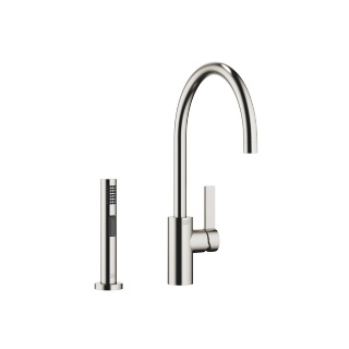 Single-lever mixer with side spray set - platinum matte - 33826875-060010_1_27721970-06_1
