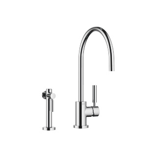 Single-lever mixer with rinsing spray set - polished chrome - 33826888-000010_1_27718970-000010_1