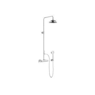 Exposed shower set with shower thermostat - polished chrome - 34459360-000010_1_11420360-00_1_28002978-00_1