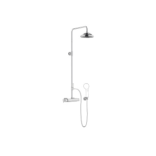Showerpipe with shower thermostat - polished chrome - 34459360-00_1_11420360-00_1