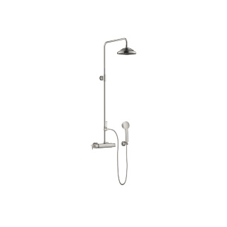 Exposed shower set with shower thermostat - platinum matte - 34459360-060010_1_11420360-06_1_28002978-06_1