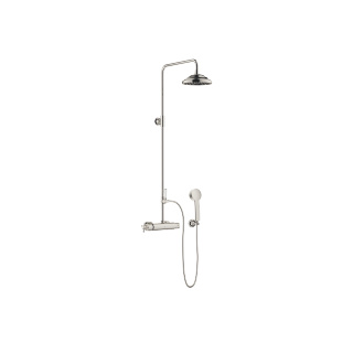 Showerpipe with shower thermostat - platinum - 34459360-080010_1_11420360-08_1_28002978-08_1