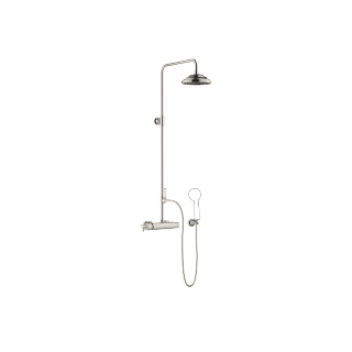 Exposed shower set with shower thermostat - platinum - 34459360-080010_1_11420360-08_1