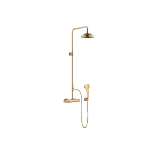 Showerpipe with shower thermostat - brushed Durabrass - 34459360-28_1_11420360-28_1_28002978-28_1