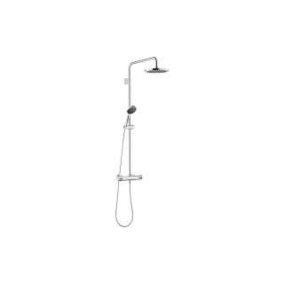 Showerpipe with shower thermostat - polished chrome - 34459979-000010_1_28015979-000010_1