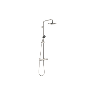Showerpipe with shower thermostat - platinum - 34459979-08_1_28015979-08_1