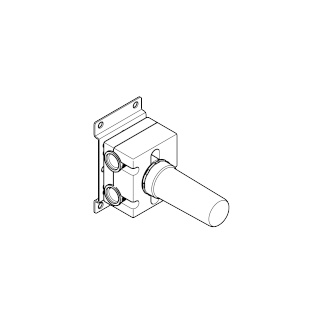 Wall mounted two-way diverter - - 35128970-900010