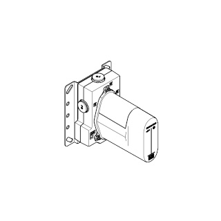 Concealed thermostat with integrated supply stops - - 35426970-900010