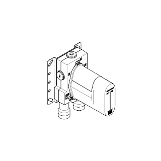 Concealed thermostat with built-in isolators - - 3542697090