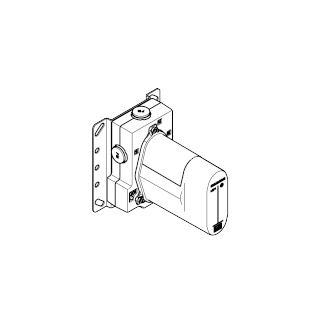 Concealed thermostat with integrated supply stops - - 35428970-900010