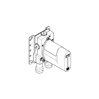 Concealed thermostat with built-in isolators - - 3542897090