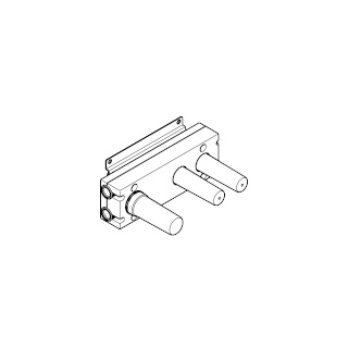 Rough for wall valve with two volume controls with diverter for wall-mounted installation - - 35696970-900010