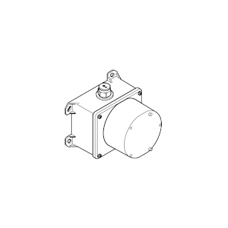 eSET Touchfree Basin mixer with temperature setting for combining with wall-mounted fittings - - 35741970-900010