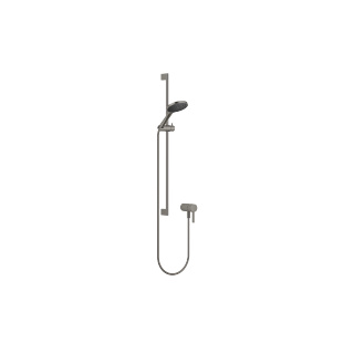 Concealed single-lever mixer with integrated shower connection with shower set - Dark Platinum matt - 36110970-99_1_28017979-99_1