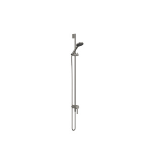 Concealed single-lever mixer with integrated shower connection with shower set - Dark Platinum matt - 36111970-99_1_28018979-99_1