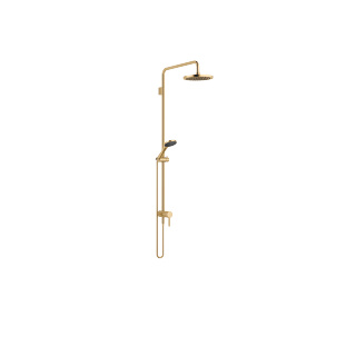 Showerpipe with single-lever shower mixer - brushed Durabrass - 36112970-28_1_28015979-28_1