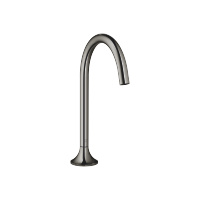 Deck-mounted basin spout without pop-up waste - platinum - 13716809-08